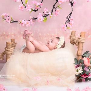 نمونه کار نوزاد با تم بهار
